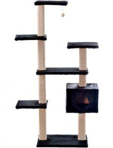 Silvio Design Kratzbaum Roxy, B/T/H: 110/50/175 cm, schwarz